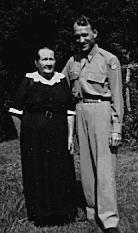 Martha V. Pauley and grandson during World War II